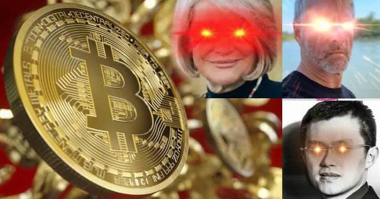 Cuál es el origen de los ojos láser de Bitcoin y qué significa